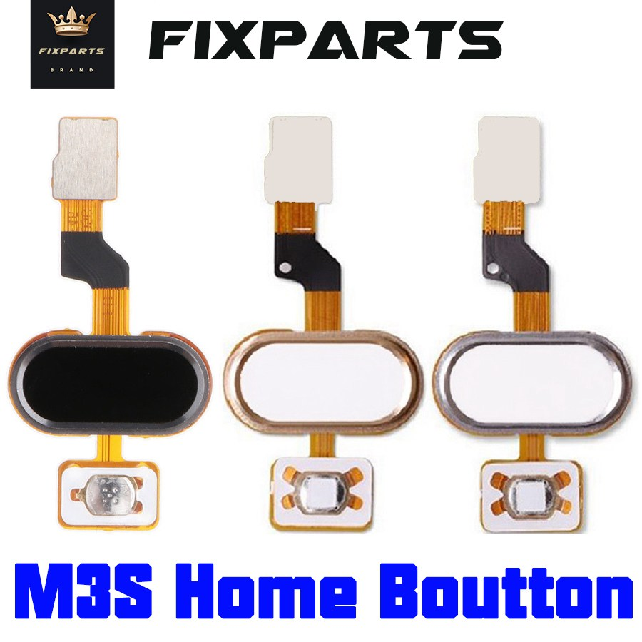 Meizu M3S Home Button FingerPrint Touch ID Sensor Flex Cable Ribbon Replacement Parts MEIZU M3S Button Key Black/White/Golden