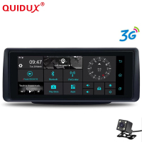 QUIDUX 3G 6.86 Inch Car DVR GPS Navigation Android 5.0 dash cam Auto recorder Dual Lens cameras Full HD 1080p car Dash camera