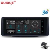 QUIDUX 3g 6,86 дюймов Автомобильный dvr gps навигация Android 5,0 dash cam Авто регистраторы двойной объектив камеры Full HD 1080p автомобиль тире камера Эра