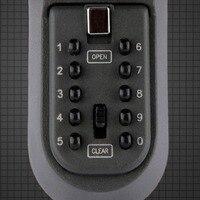 Электронный в безопасной коробке Железный настенный шнурок для ключей кодовый замок утолщение металлический Футляр для ключей ключница се...