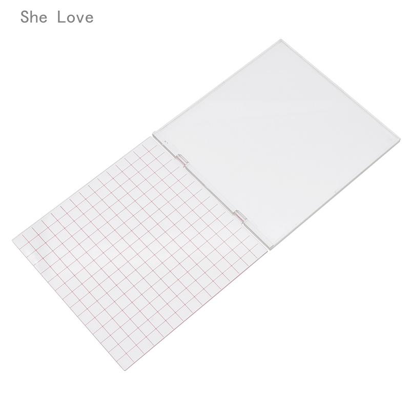 She Love Surprise Stamping Tool Perfect for Positioning Stamping with Clear Stamp Scrapbooking Cardmaking