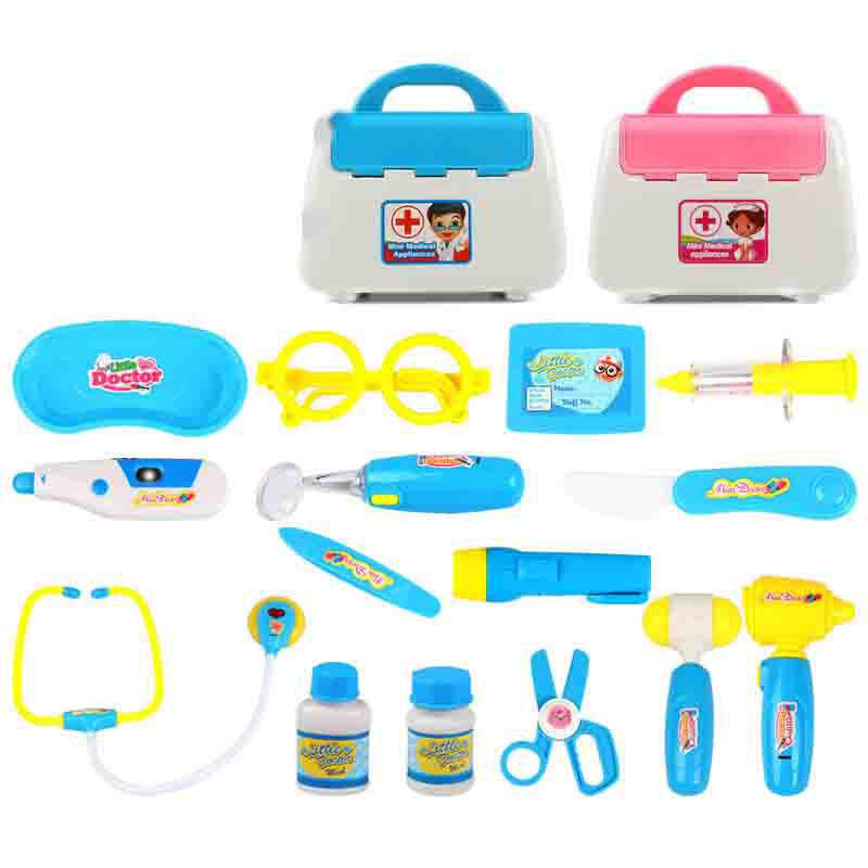 15pcs/set Pretend Play Toys Doctor Medicine Box Role Play Educational Baby Classic Toys For Children Kids