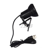 Super Bright 3 LED Port Clip On Spot USB Light Lamp For Laptop PC Notebook Black JUL25_25