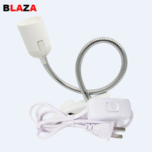 360 Degrees Flexible Lamp Holder Clip Base with On off Switch EU UK EU Plug for