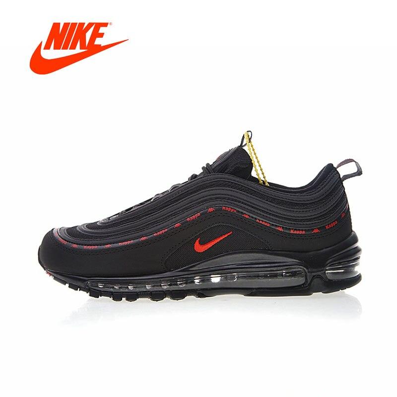 Original Nouvelle Arrivée Authentique Kappa X Nike Air Max 97 Hommes Chaussures de Course de Sport En Plein Air Sneakers Bonne Qualité AJ1986-004