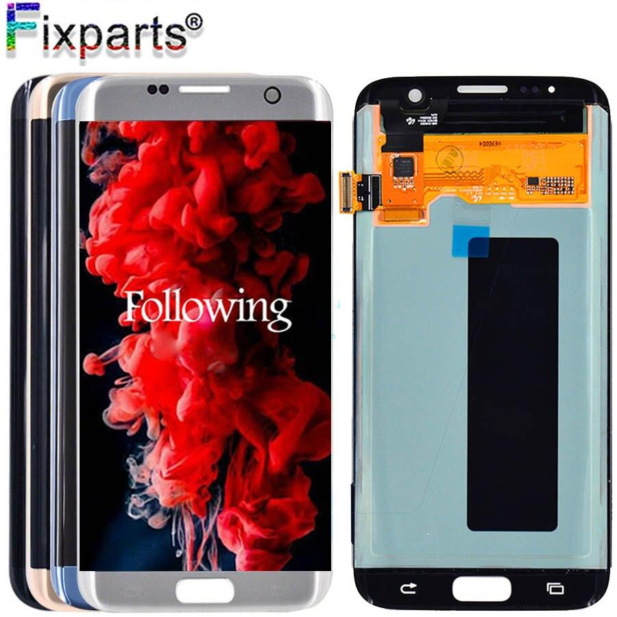 100% testé pour samsung Galaxy S7 Edge G935 LCD G935F écran tactile numériseur assemblée pour samsung s7 bord écran d'affichage