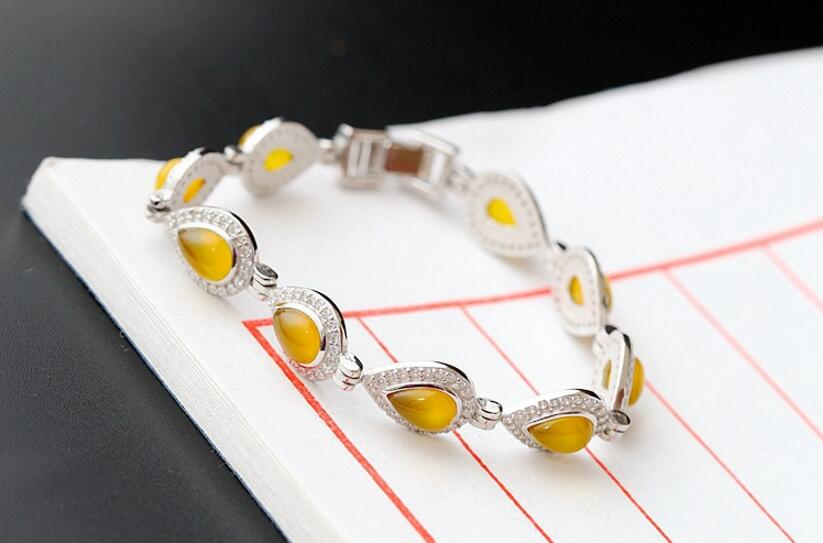Silver jewelry wholesaler of the gold medullary fashion bracelet anti-allergy lady 925 pure silver bracelet allergy fighting garden the