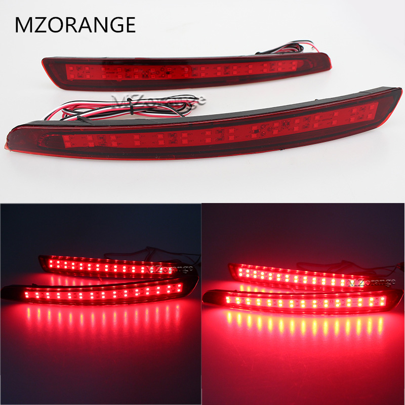 Newest!!! LED Rear Bumper Reflector Brake Light Car Styling For Ford Mondeo Fusion 4 2011 2012 2013 Warning Light