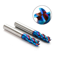 HRC45 HRC50 HRC55 HRC60 4F 2F 16x100MM 16MM Tungsten Carbide CNC Tool End Mill R8 ball end End Mill Aluminum milling cutter