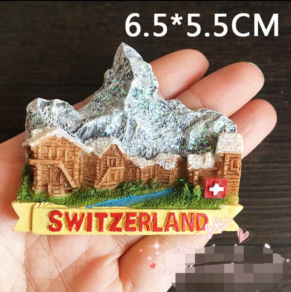 Hot Selling Newest Magnetic Time Europe, Switzerland, Luzern Tourism  Memorial Landscape Refrigerator Sticker Magnet Sticker
