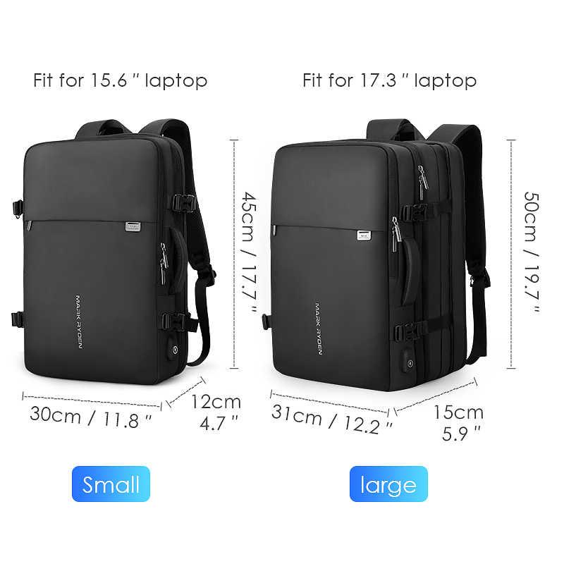 Mark Ryden мужской рюкзак подходит для 17 дюймов ноутбука USB подзарядка многослойная космическая дорожная мужская сумка Анти-Вор Mochila