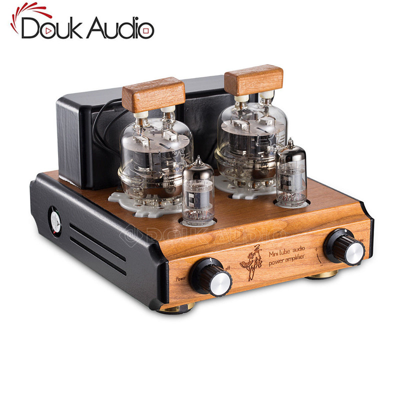Douk Audio Mini FU32 Tubo A Vuoto Amplificatore HiFi Push-Pull Stereo Amplificatore di Potenza 6 w + 6 w