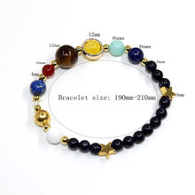 Covit Universe Planets Beads Bangles & Bracelets Fashion Jewelry Natural Solar System Energy Bracelet For Women or Men 2018(China)