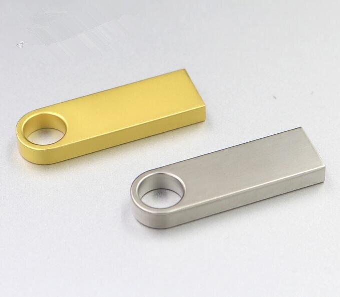 Real capacity USB Flash Drive 128GB 64GB 32GB 16GB 8GB Silver Metal Pendrive High Speed pen drive memory flash stick