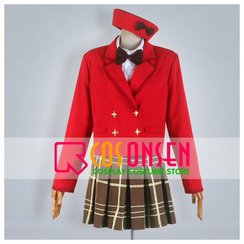 COSPLAYONSEN Fantasista Doll Card club Uno Uzume Cosplay Costume With Hat Custom Made
