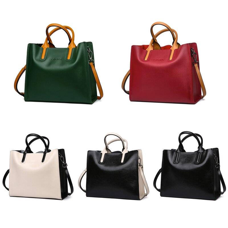 LY.SHARK Big Messenger Bag Women Shoulder Bag Female Bag Ladies Genuine Leather Bags For Women 2019 Women Handbags Green Black Islamabad