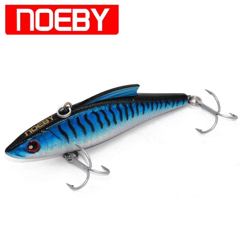 Noeby Fishing Lure VIB Bait 90mm/33g Sinking 0.6-2.0m VMC Hooks Iscas Artificial Para Pesca Wobblers Leurre Peche Sahte fishing lure artificial bait swim bait 135mm 55g sinking 2 segement vib with soft double tail jerk bait