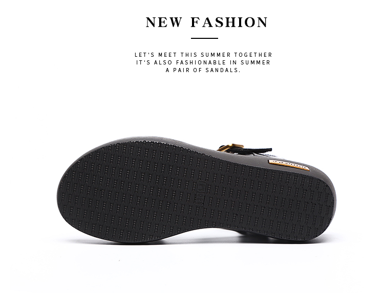 Sandals Female Summer Flat 2019 New Wild With High Heel Wedges Comfortable Non-slip Soft Bottom Pregnant Women Mother Shoes 74