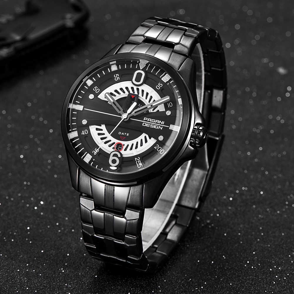 Relojes de Acero de diseño PAGANI para hombre, reloj de cuarzo deportivo de lujo, reloj de pulsera para hombre, militar, resistente al agua, reloj de pulsera para hombre