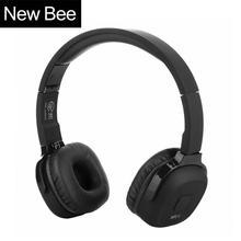ใหม่ผึ้งอัพเกรดไร้สายบลูทูธหูฟังไฮไฟชุดหูฟังกีฬากรณีPedometer App Mic NFCหูฟังยืนสำหรับโทรศัพท์พีซี