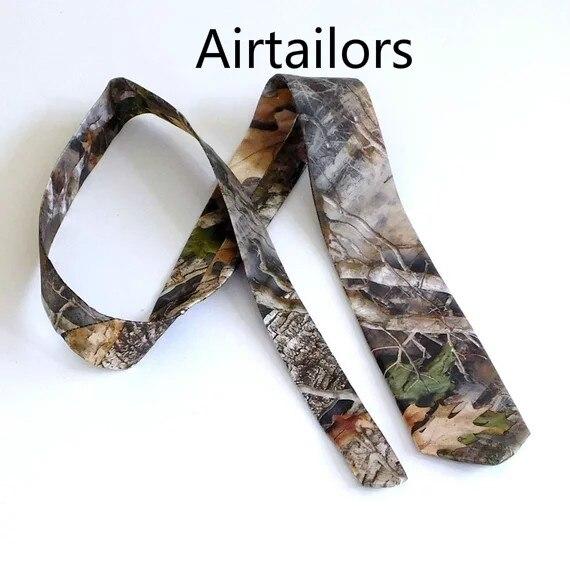 2019 Airtailors Camo Tie True Timber Kanati Camouflage Necktie Bridal Satin Fabric