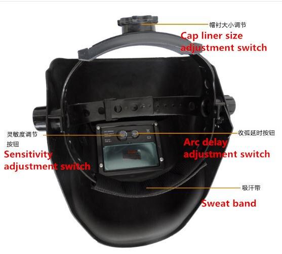 Aldismala Eagle Solar Auto Darkening MIG MMA Electric Welding Mask/Helmet/Welding Lens for Welding Machine or Plasma Cutter