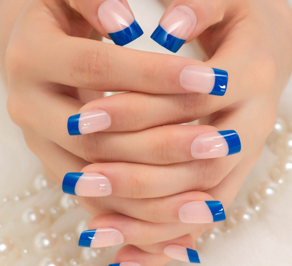 artificial nails french style fake