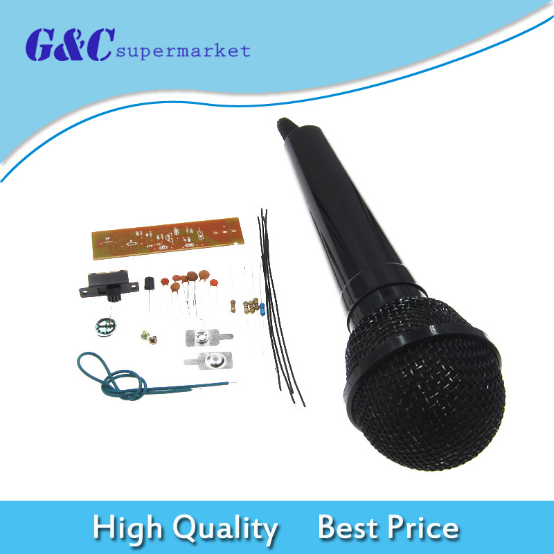 DIY Kits FM Wireless Microphone Parts Frequency Modulation Suite Electronic Teaching Electronic Production