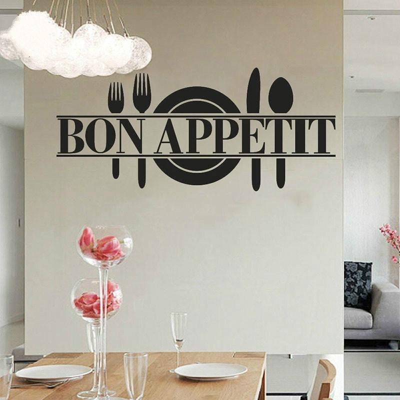 bon appetit cocina diy pegatinas de pared cocina poster carteles de vinilo decoracin jy