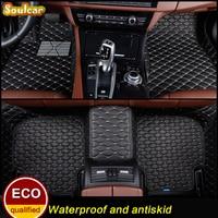 Custom fit Car floor mats for FORD Focus Taurus Mondeo Edge Explorer Mustang 2004 2017 3d car styling car floor carpet Liners