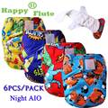 Happy Flute 6 pcs pack heavy wetter night AIO AI2 baby cloth diaper nappy