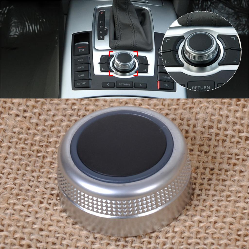 DWCX 1x nouveau Chrome multimédia MMI Menu principal contrôle rotatif interrupteur bouton capuchon couvercle 4F0 919 069 4F0919069 pour Audi A6 A8 S6 S8