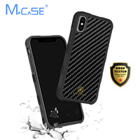 Adsorption Anti Slide Case PC+TPU+ Real Carbon Fiber Case Cover for iPhone X with Magnetic Backplate for Phone Car Holder