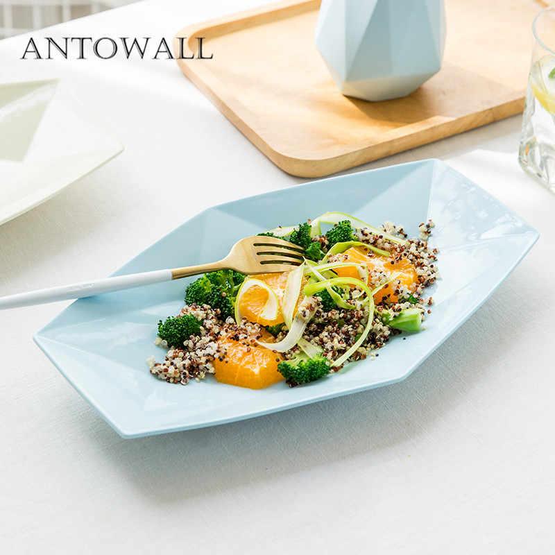 ANTOWALL корейский небольшой свежий керамический домашний Ресторан Западный стейк плоская пластина Алмазная посуда закуска фруктовый тарелка kela