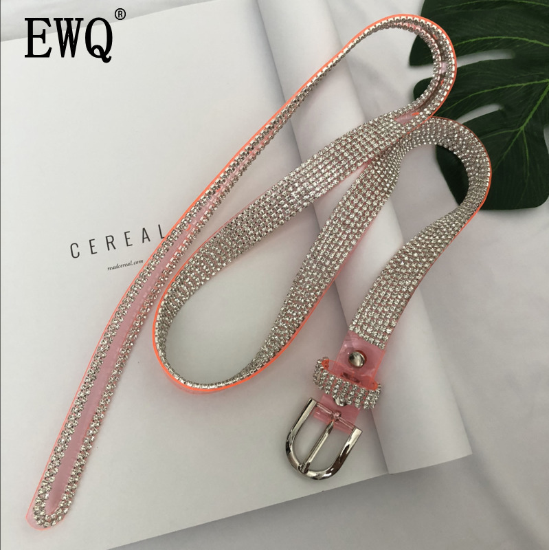[EWQ] Belt Rhinestone Belt Fashion Women's Accessories Diamond Belt Crystal Chain Full Diamond Sexy Belt QJ04515
