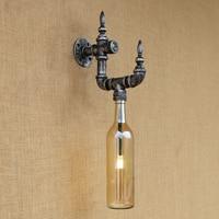 New design Bottle lampshade led wall lamp vintage Loft G4 bulb Sconce  with switch for living room bedroom restaurant 220V
