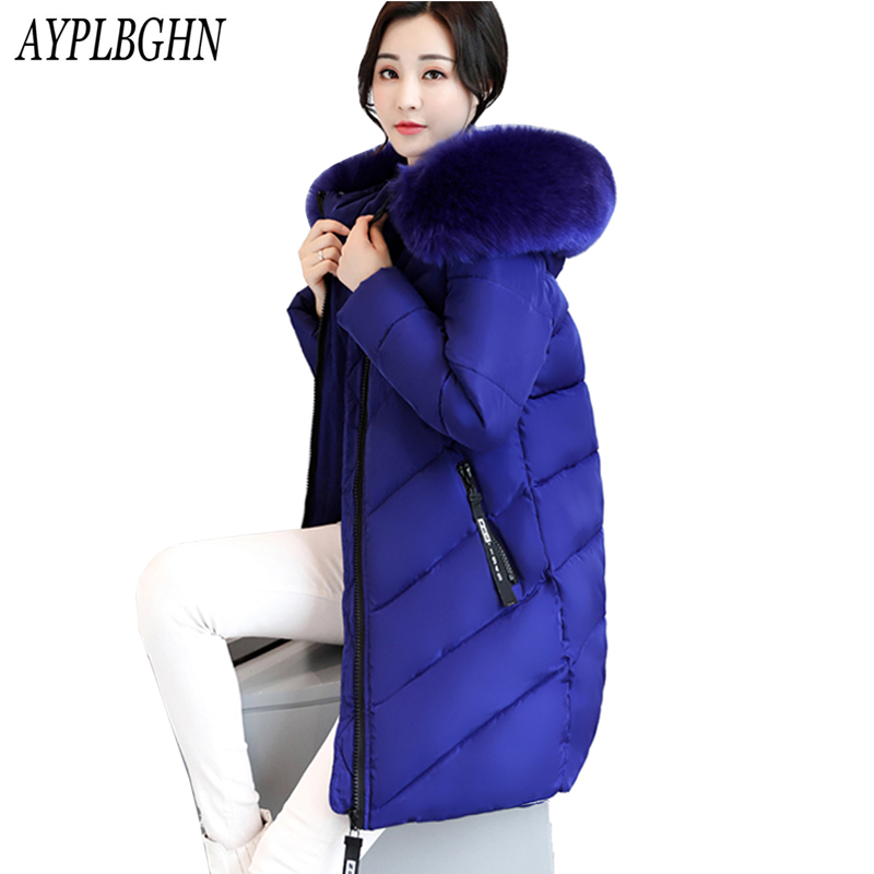 Winter Female Warm Thicken Plus size Jacket Women Slim Jackets Women Winter Coats Outwear Long Coat Female Cotton Parkas 7L29 new winter light down cotton coat women long design hooded jackets casual slim warm jacket coats parkas female outwear qh0454