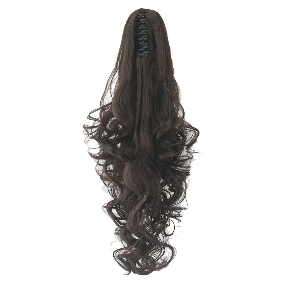 Soowee Curly Synthetic Hair Long Pony Tail Black Claw Ponytail Clip In Hair Extensions Kanikalon False Hair On Clips For Women Comfortable And Easy To Wear Hair Extensions & Wigs Synthetic Extensions