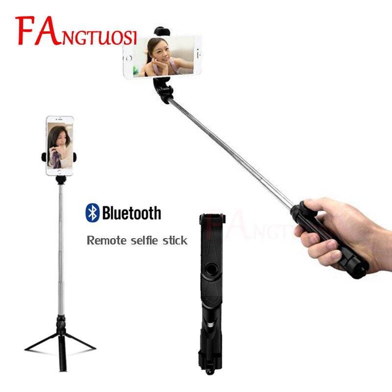 FANGTUOS 3 en 1 Sans Fil Bluetooth Selfie Bâton Pour iPhone 8X7 6 s Mini Déclencheur À Distance Monopode Extensible Universel trépied