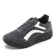 Low female wedges black shoes Breathable comfortable autumn new women's casual shoes fashion rihanna creepers