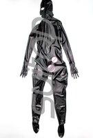 Suitop для мужчин's Полностью Защищенный Корпус Латекс комбинезон 0,4 Резина zentai с пенисами презерватив для мужчин (молния сзади) (открытый нос т