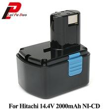 Перезаряжаемые Мощность инструмент Батарея для Hitachi 14,4 В 2000 мАч NI-CD EB1414S EB14B EB1412S DS14DVF3 324367 EB14S CJ14DLDS14DL DV14DL