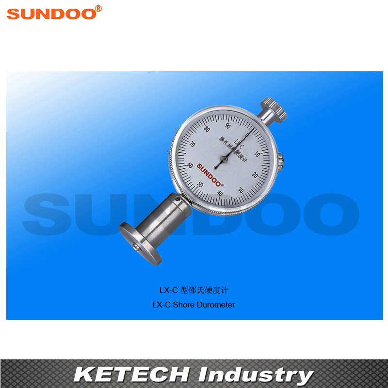 Sundoo LX-C Pointer Foam Sponge Shore Durometer For Microporous Materials common hard rubber meter shore d hardness tester with single pointer analog sclerometer lx d 1 shore durometer gauge