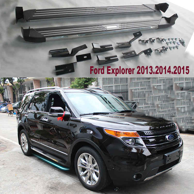 For Ford Explorer 2017 Car Running Boards Auto Side Step Bar Pedals New Flagship Product In Nerf Bars From Automobiles