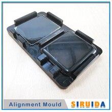 38mm 42mm molde do alinhamento para apple assistir série 5 2 3 4 s2 s3 lcd painel de vidro frontal tela oca cola filme alinhando posição