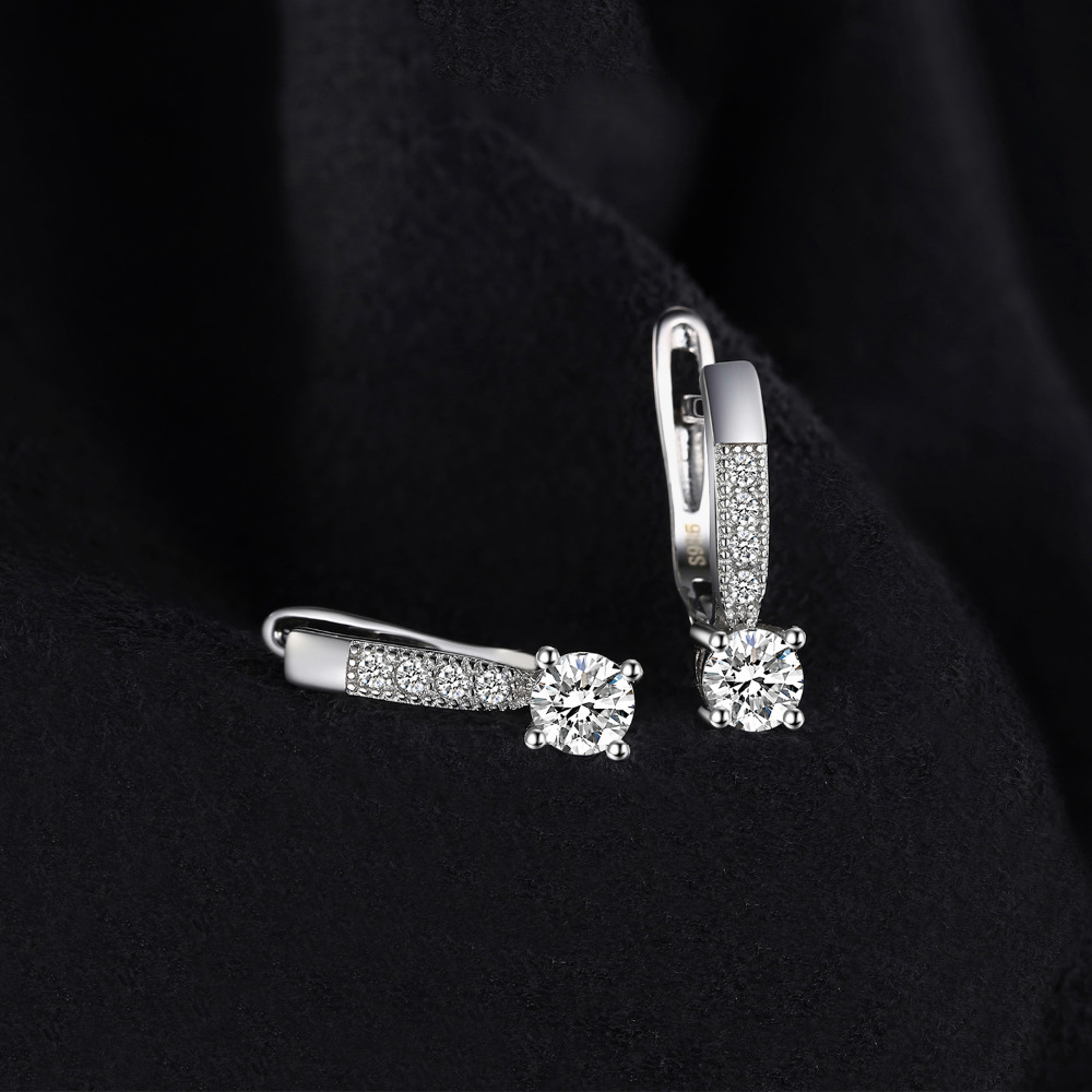 JewelryPalace Zirkonia Creolen 925 Sterling Silber Ohrringe Für - Modeschmuck - Foto 2