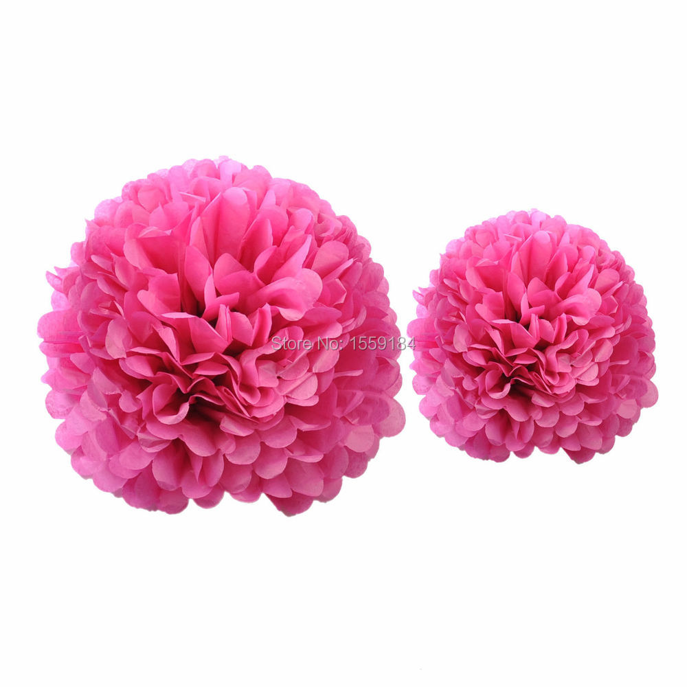 Free Shipping 500pcs Artificial Tissue Paper Flower Balls Pompoms