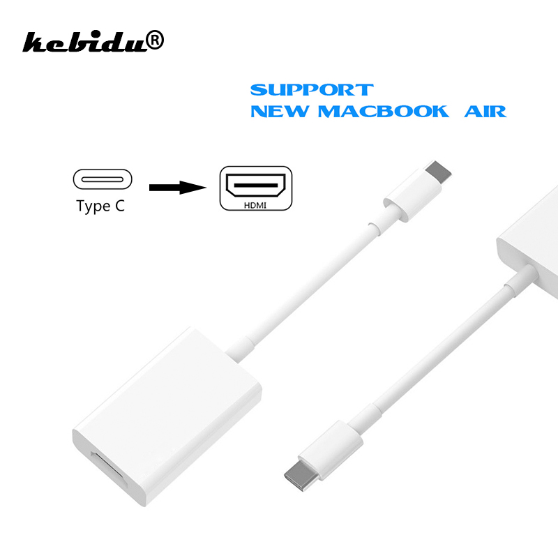 kebidu USB C to HDMI Adapter 4K Type C 3.1 to HDMI Male to