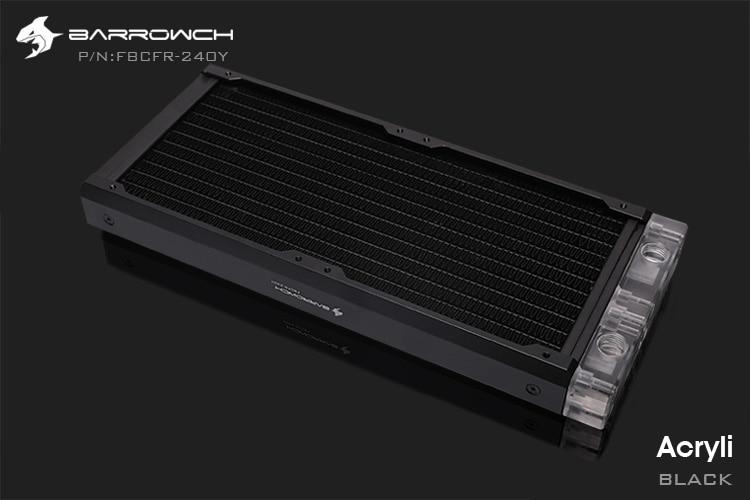 Barrowch FBCFR-240, хамелеон рыбы модульные 240 мм радиаторы, акрил/Пом съемные радиаторы, подходит для 120 мм вентиляторов - Цвет лезвия: Acrylic-Black