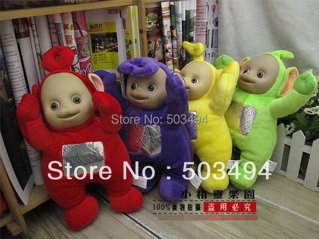 "Free Shipping New Lovely Teletubbies Plush Doll Stuffed Toys 13"" Singing Toy Blue Green Red Yellow Kids best Friend Toys Gift"
